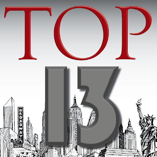 Top 13 for 2013