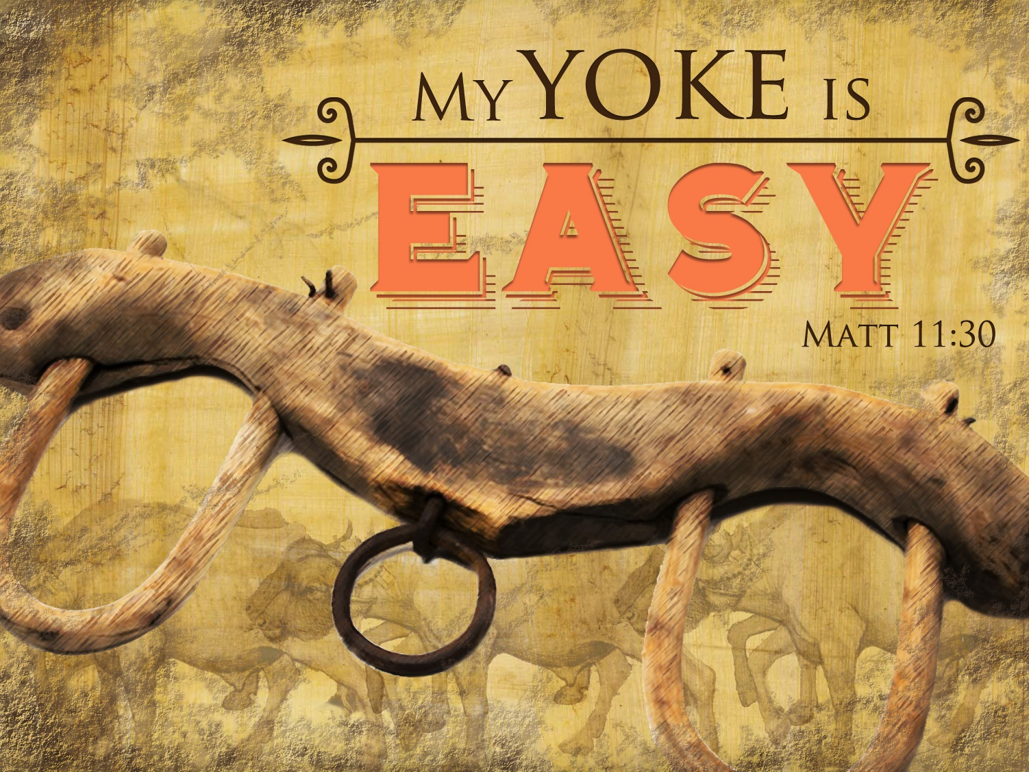 """Jesus did not say """"My yoke is hard but hell is harder."""""""